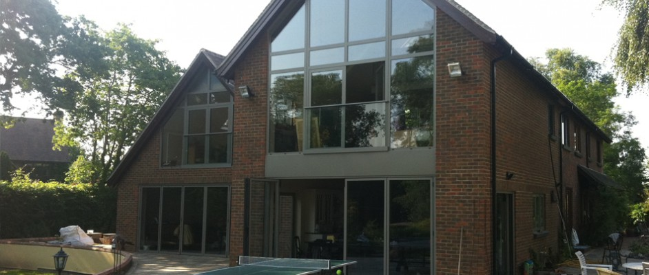 Double height residential glazing